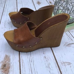 ALDO Wooden Wedges open toe